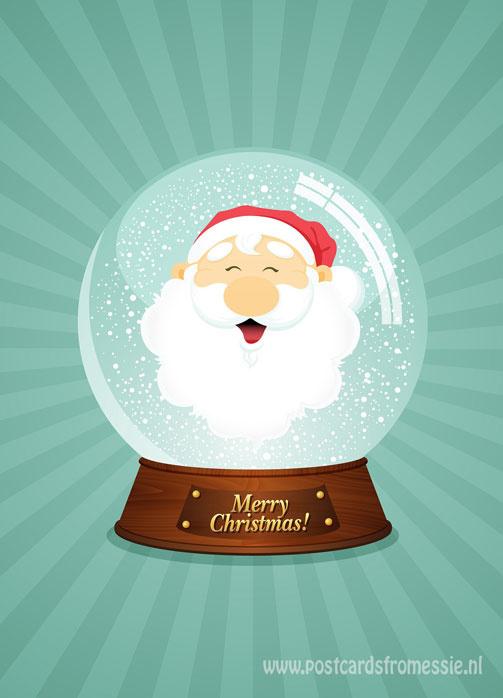 Kerstman sneeuwbol