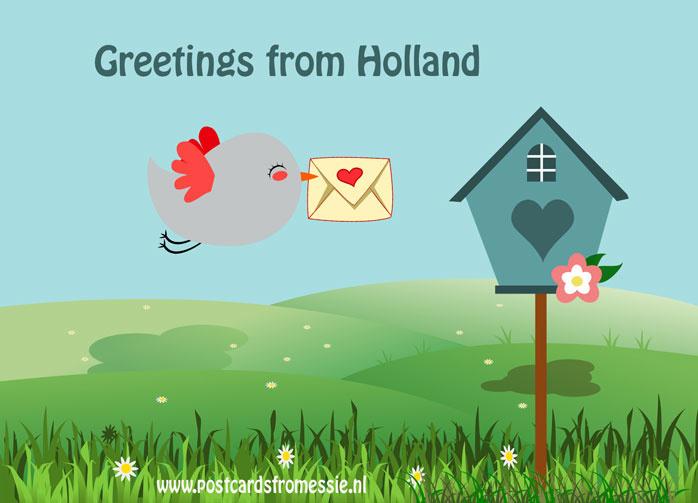 Greetings from Holland - vogel