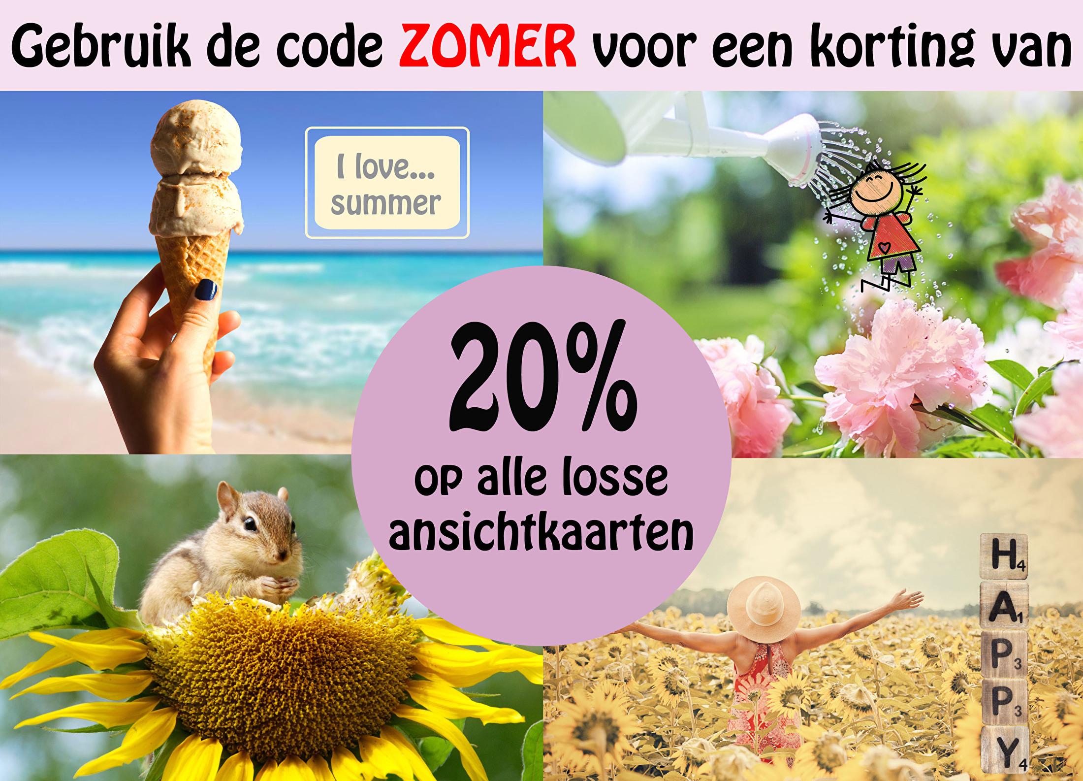 20 procent zomerkorting