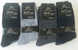 Heren sokken  12 paar maat 39/42  43/46  mix set  0,46  per paar
