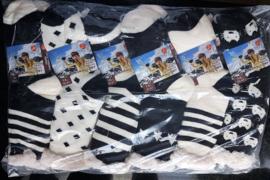 Huis Sokken Dames zwart/wit 12 paar    2,90