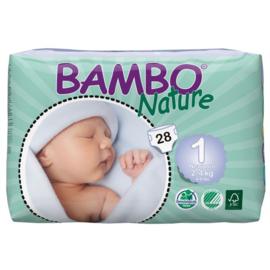 Bambo Nature luier maat 1 Newborn