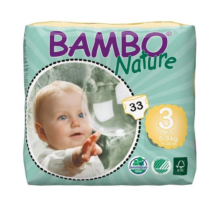 Bambo Nature luier maat 3 Midi