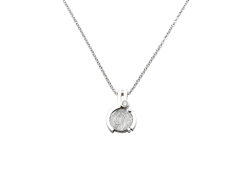MELODY  WG silver with 0.03ct