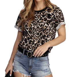 Prachtig leopard t-shirt