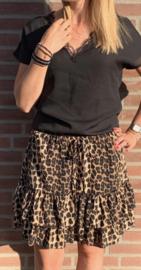 Rokje met leopard motief