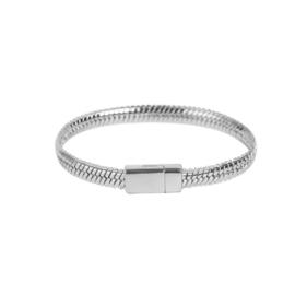Prachtige zilverkleurige armband met magneetsluiting