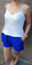 Prachtige blauwe short met strik