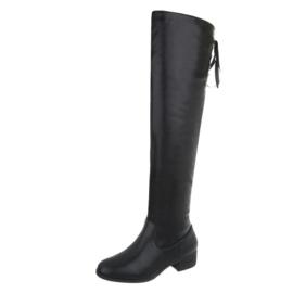 Zwarte laarzen met koord achter