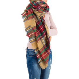 Geblokte xxl sjaal