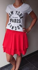 Prachtige rode rok met plooitjes