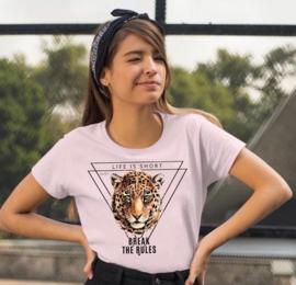 Life Is Short Luipaard T-shirt