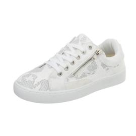 Prachtige witte sneakers met kant
