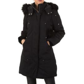 Heerlijke, warme jas met imitatiebont