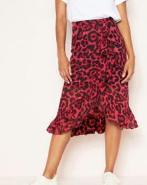Prachtige, rode leopard rok