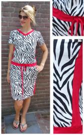 Strikjurkje met zebra print