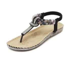 Boho style slippers voor een zomerse look