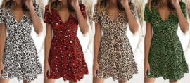 Prachtig jurkje met leopard print