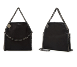 Prachtige zwarte damestas met ketting