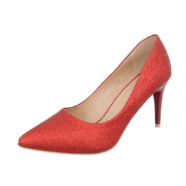 Prachtige rode pumps met glitters