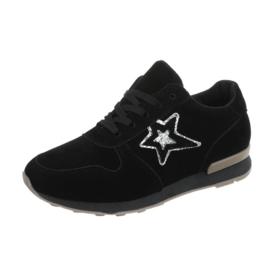 Zwarte dames sneaker met ster