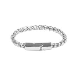 Stijlvolle zilverkleurige armband met magneetsluiting