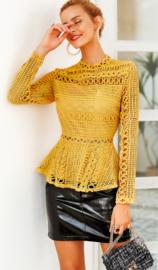 Prachtige gele lace top ????