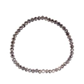Grijze shine kralenarmband