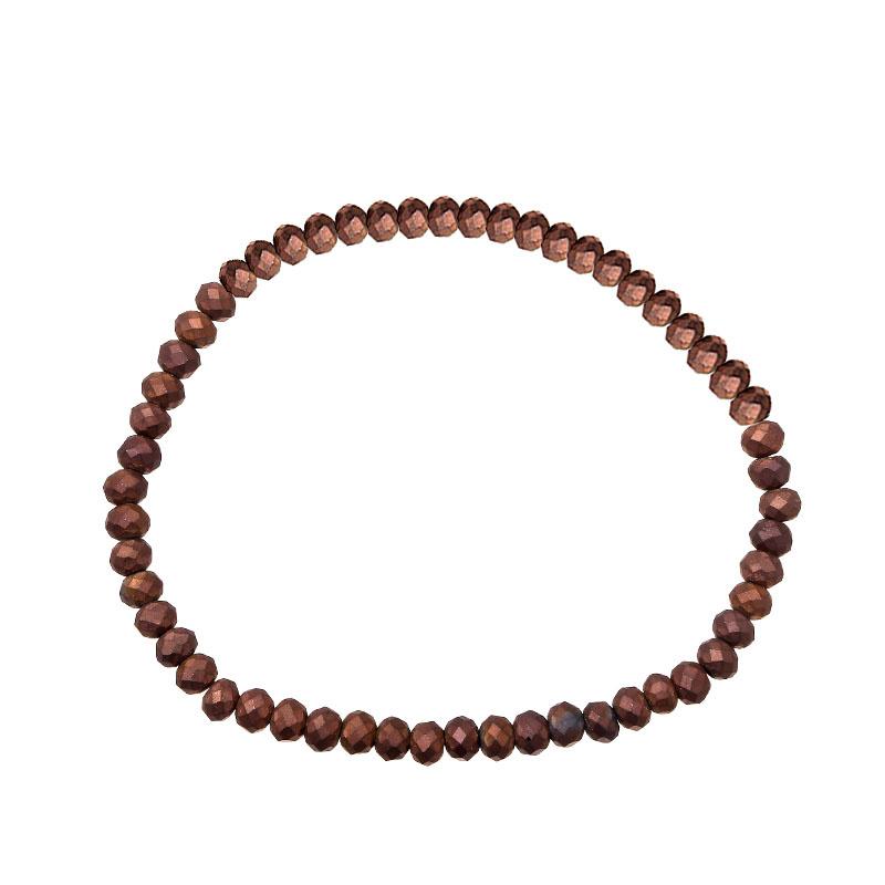 Bruine kralenarmband