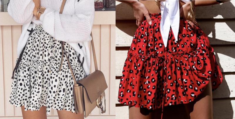 Prachtig rokje met leopard print