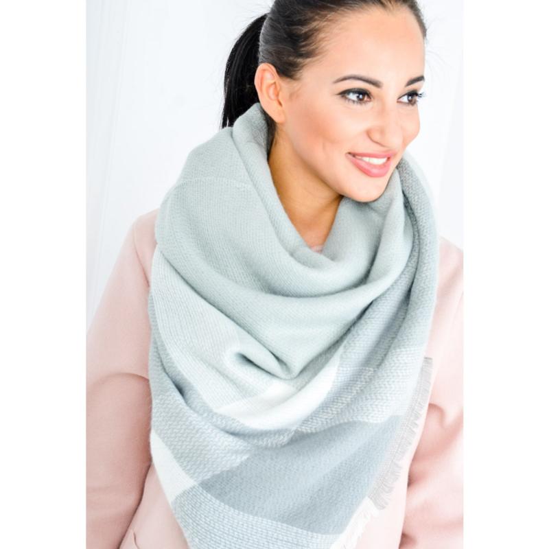 Zacht, geruite sjaal