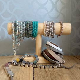 Armbanden Leather & Beads p.p.