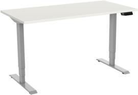 Elektrisch Zit Sta bureau Deluxe grijs-wit