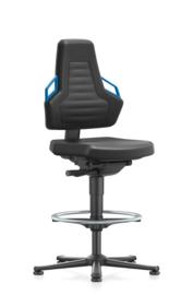 Bimos hoge werkplaatsstoel Nexxit 3 9031 met glijders en voetenring