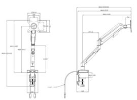 Enkele monitorarm wit 17-30 inch - 1 scherm