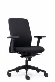 Pro Only Ergonomische Bureaustoel Stof Zwart