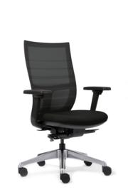 Euroseats Curve Deluxe bureaustoel zwart