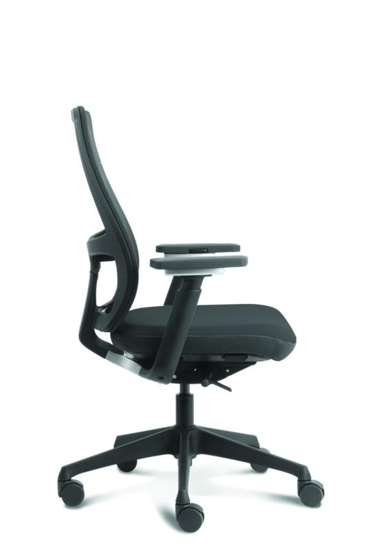 Bureaustoel Met Lendesteun.Euroseats Body Bureaustoel Zwart Bureaustoelenonly Nl