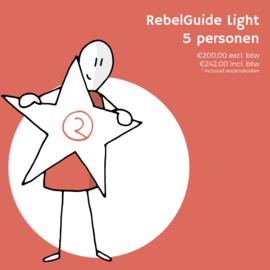 RebelGuide-programma Light voor 5 personen (€200,00 excl. btw)