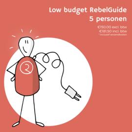 Low budget RebelGuide-programma voor 5 personen (€150,00 excl. btw)