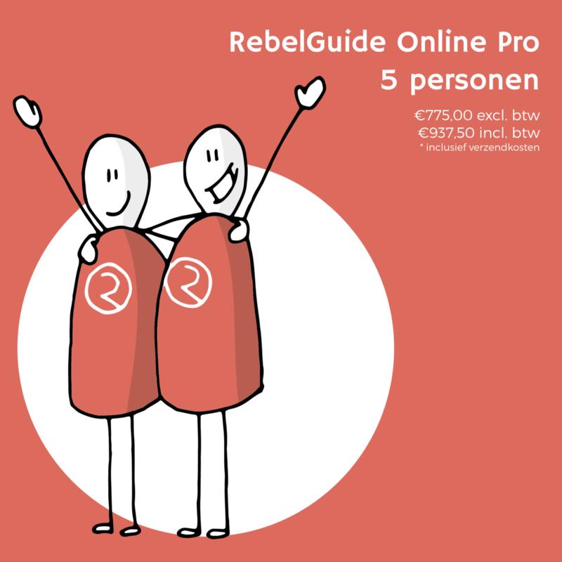 RebelGuide-programma Online Pro voor 5 personen (€775,00 excl. btw)