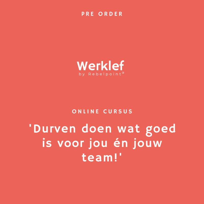 Pre-order: online cursus 'Leidinggeven met werklef!'