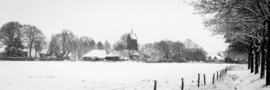 Gezicht op Anloo in de sneeuw