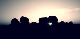 Hunebed Loon zonsondergang