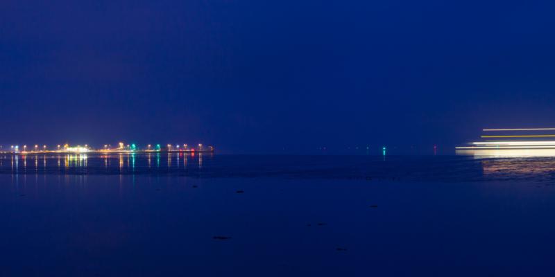 Ameland Veerboot bij nacht