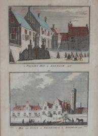 Antieke gravure Alkmaar 1726