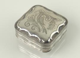 Zilveren pepermuntdoosje, tandendoosje 1895