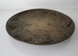Art Nouveau bronzen bord