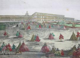 Antieke gravure Versailles 18e eeuw