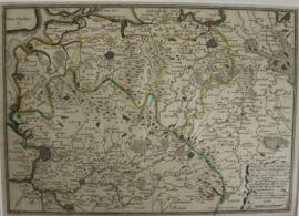Antieke kaart Brabant en Belgie, 18e eeuw.